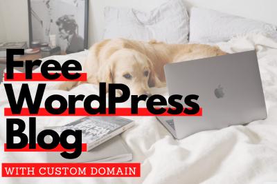 Free wordpress blog with custom domain